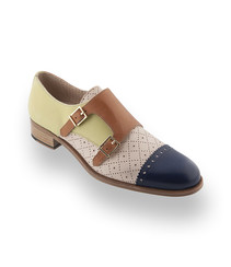 Pertini Schuhe hier ein Doppelmonk in toller Farbkombination