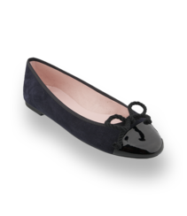Pretty Ballerinas in schwarz mit Lackleder